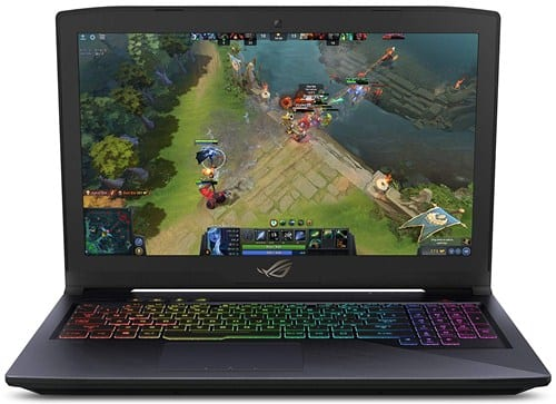Asus ROG Strix Hero Edition GL503GE - how much power does a laptop draw